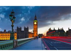 Quadro Londres Ponte com Big Ben ao Fund