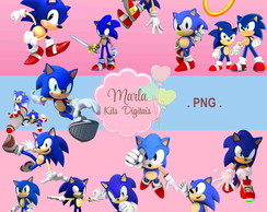 Kit Digital Sonic - Clipart