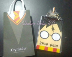 kit caderninho + lapis harry potter