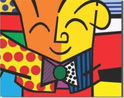 Romero de Britto The Hug o abraço