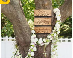Conjunto de Placas Wedding