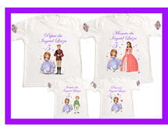 Kit 4 camisetas Princesa Sofia