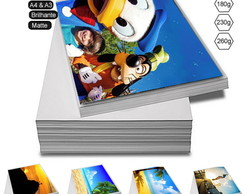 100 Folhas Papel Foto Glossy 230g A4