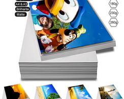 100 Folhas Papel Foto Glossy 260g A4