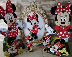 kit minnie vermelha mdf