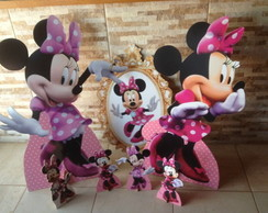 kit minnie rosa mdf