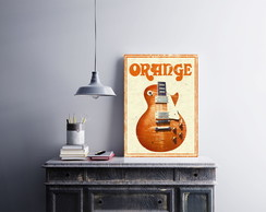 "Placa decorativa ""Orange Music"""