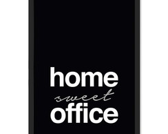 Poster A4 Frase Home Sweet Office