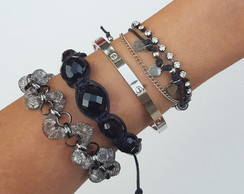Mix Pulseiras Rock Girls
