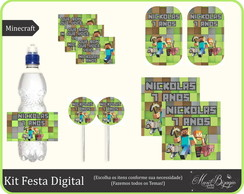 Kit Festa Digital - Minecraft
