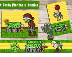Kit Digital Plantas Zombies (5 rótulos)