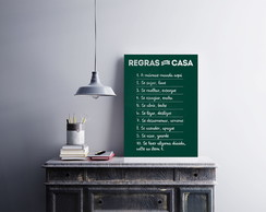 "Placa decorativa ""Regras da Casa"""