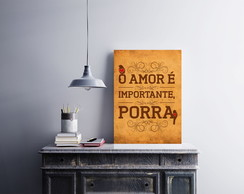 "Placa decorativa ""O Amor é Importante"""