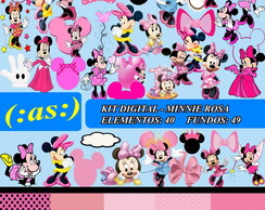 Kit Digital Scrapbook Minnie Rosa