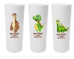 Copos Long Drink Dinossauro