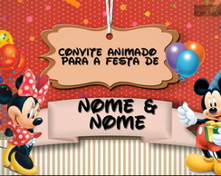 Convite animado Mickey & Minnie