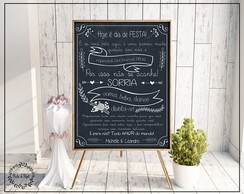 Poster Chalkboard Casamento A2