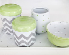 Kit Higiene Chevron e Verde