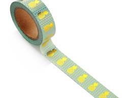 Masking Tape Abacaxi Metalizada - 10m