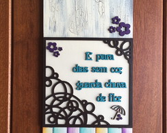 FM38 - Placa Guarda chuva de flor