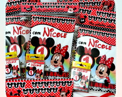 Kit de colorir Minnie c/giz 6 cores