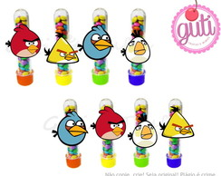 Tubetes com aplique angry birds