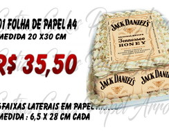 Jack Daniels Honey Papel arroz para bolo