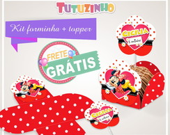 Kit Forminha + Topper Minnie vermelha