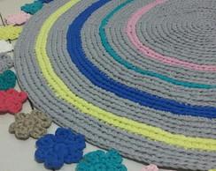 ... Tapete colorido com contorno de flores d1ed767e156
