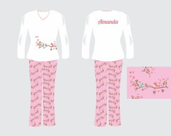 Pijama adulto Exclusivo personalizado - Festa do pijama