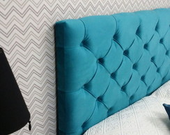 PAINEL CABECEIRA QUEEN SUEDE AZUL