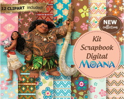 Kit Scrapbook Digital Moana 2