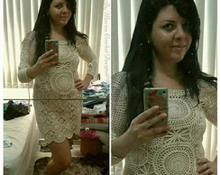 Vestido Crochet Off White