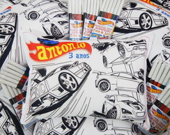 Mini Almofada para Colorir Hot Wheels