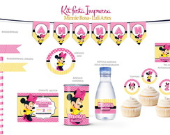 Kit Festa Impressa - Minnie Rosa