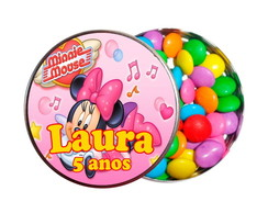 Kit 30 Latinhas Minnie Mouse