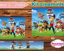 Kit Cinema Patrulha Canina