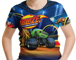 Camiseta Infantil Blaze and the Monster