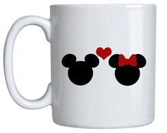 Caneca Romance- Mickey e Minnie