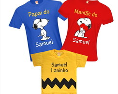 Camiseta Festa Snoopy e Charlie Brown