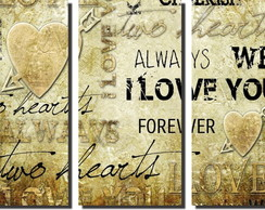 Quadro Decorativo Frases De Amor I Love