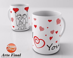 Caneca Personalizada I Love You