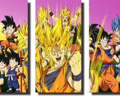 Quadro Dragon Ball z goku super sayajin