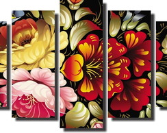 Quadro Decorativo Buque De Flores Colori