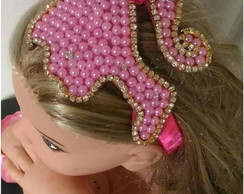 TIARA BARBIE PÉROLA STRASS