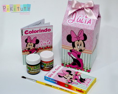 Kit Colorir na Caixa de Leite Minnie