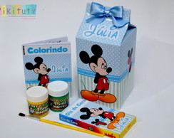 Kit Colorir na Caixa de Leite Mickey