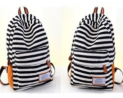 "Mochila Black Stripes ""P"""