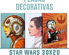Placas Decorativas Star Wars 30x20 mdf