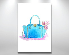 Placa Decorativa Bolsa watercolor